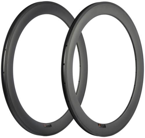 60mm Carbon Rim 25mm Width Clincher Bicycle Rims 700C 16/18/20/21/24/28/32/36