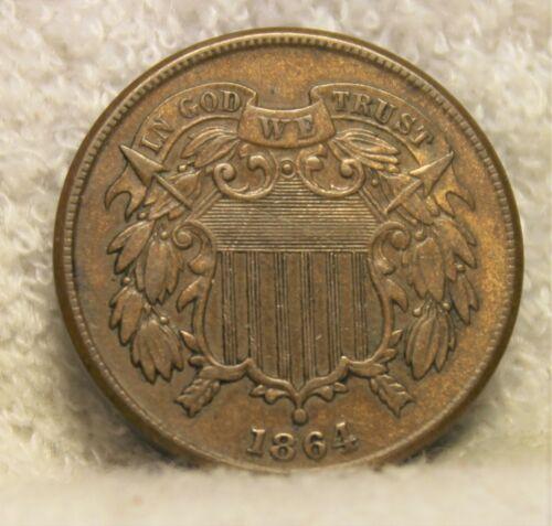 1864AU two cent