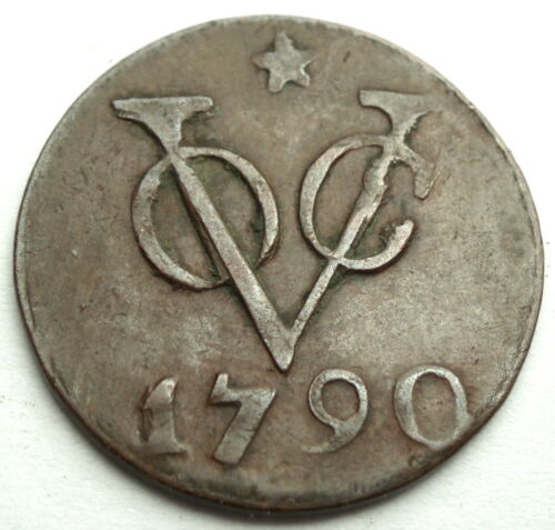 NETHERLANDS EAST INDIES, VOC UTRECHT 1 DUIT 1790 Star. 1L8.2