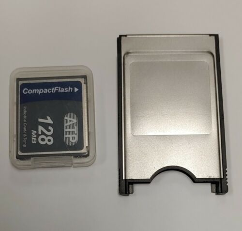 JANOME 128MB Compact Flash Compactflash ATP + PC card PCMCIA Adapter