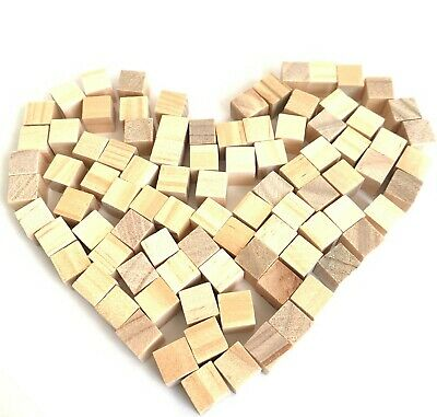 Tiny Wood Cubes Unfinished Wooden Blocks Craft Small Wedding Kids DIY Painting