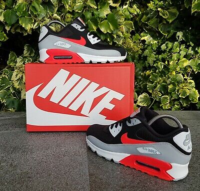 ❤ BNWB & Genuine Nike ® Air Max 90 Essential InfraRed Black Trainers UK Size