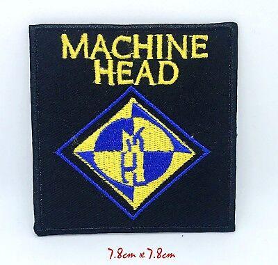 Máquina Cabeza Heavy Metal Banda Bordado Hierro en Parche para Coser #1395