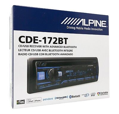 Alpine Cde 172Bt  Cd Player Car Stereo  Bluetooth  Usb Aux   Replaces Cde 143Bt