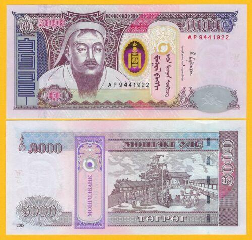 Mongolia 5000 Tögrög p-68 2018 UNC Banknote