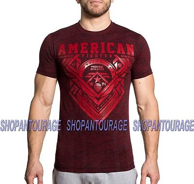 American Fighter Mayhill FM6920 Men`s Red Short Sleeve T-shirt By Affliction