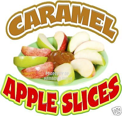 Caramel Apple Slices Decal 14 Concession Food Truck Van Restaurant Menu Sticker
