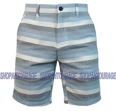 Plaid Woven Shorts (Micros MZXS6581 Fished Out Woven Plaid Light Walk Shorts For Men)