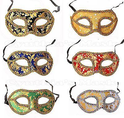 Wholesale 10pcs Venetian Masquerade Mask w/Rainbow Trim Assorted color NEW - Venetian Masks Wholesale
