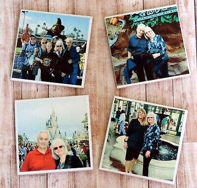 Personalized Photo Ceramic Coasters, Memory Coasters, Vacation Keepsake - Personalized Photo Coasters