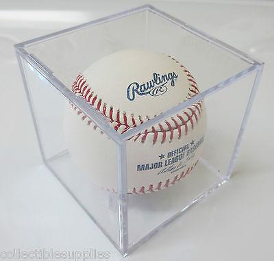 UV Protected Square Baseball Ball Holder Display Case