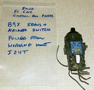 Emco F1 Cnc Mill Control Box Partskn B9x Latching Switch For Motor Onoff I24t