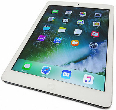 Unlocked Apple iPad Air 32GB WiFi GSM White/Silver A1475 Grade A- iOS 10.2.1