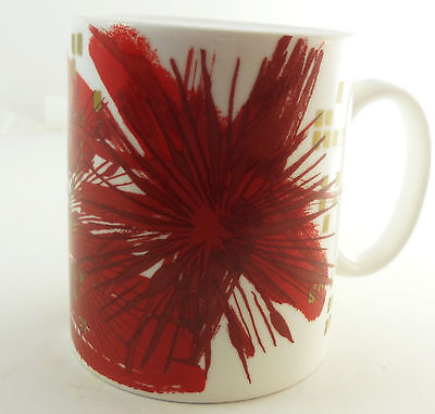 Accented 15 Ounce Mug (Starbucks Red Flower Starburst Gold Accents Coffee Mug 15 oz 2014 )