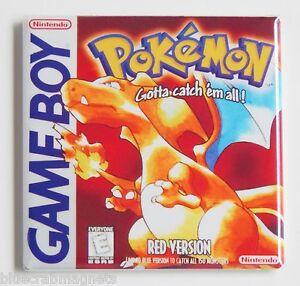 Pokemon-Red-Version-FRIDGE-MAGNET-video-game-box-game-boy
