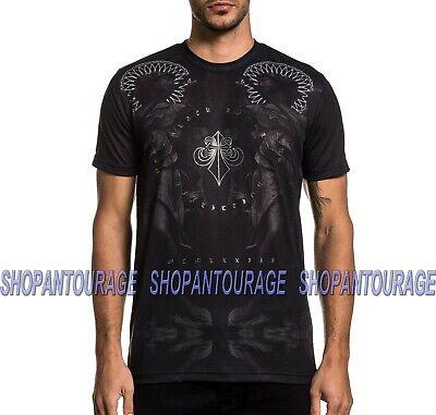 Affliction Black Label Angel A21581 New Short Sleeve Graphic T-shirt For Men ()