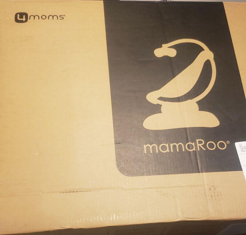 4moms 2000800 MamaRoo 4 Baby Swing Bluetooth Baby Rocker w 5 Unique Motions Grey