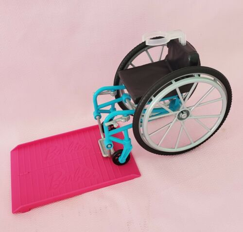 Barbie 1/6 Accessories Wheelchair With Pink Ramp - $10.50