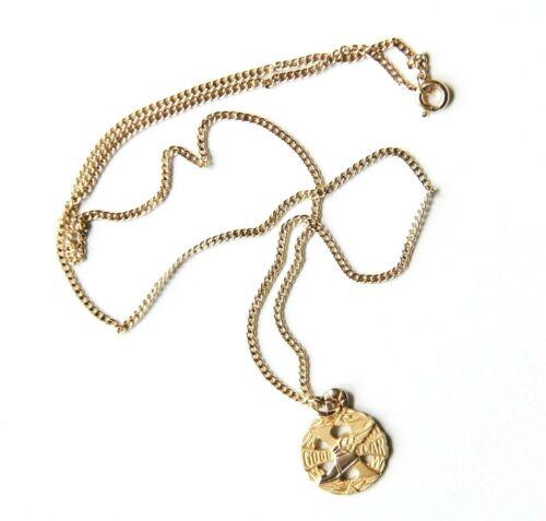 "1/10 10K GF Goodyear Mercury Winged Shoe Charm 1/20 12K GF 18"" Chain Necklace"
