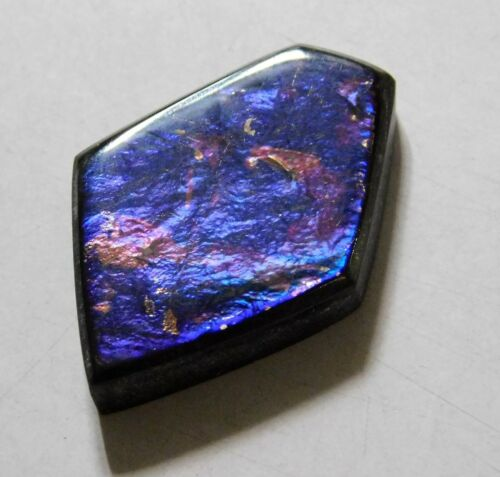 12.45 Cts Natural Canadian Ammolite Cabochon Loose Gemstone 22X15.7X4.5MM AR25