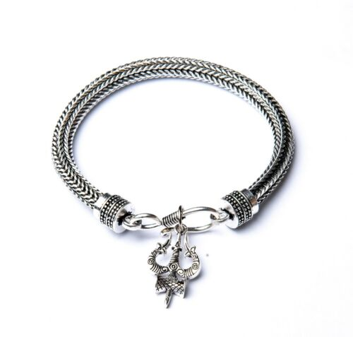 Trishul Bracelet for Men and Women, Chain Style Kada for Men, Ethnic Trishul Loc