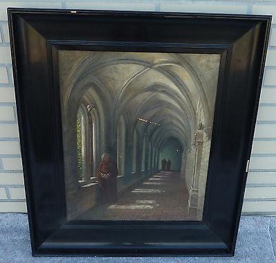 M�nche im Kloster Impressionismus Interieur 1921 Hans Herrmann * 1858 Berlin