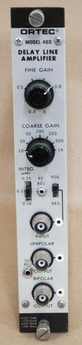 Ortec Delay Line Amplifier Nim Bin Module Model 460