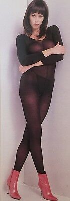 Leg Avenue - Lycra Opaque Bodystocking; Size Reg or Plus - Nude/Black LA8752(Q)