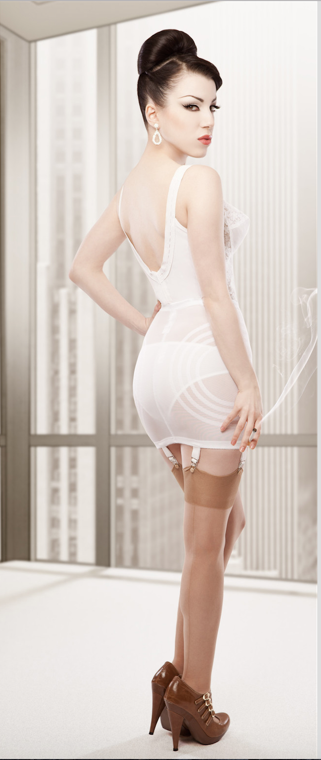 7f12078ea Details about RAGO 1359 sexy 6 Strap OPEN BOTTOM GIRDLE in Black   White  All Sizes SHAPEWEAR