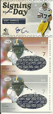 2007 SP Rookie Threads - SCOTT CHANDLER - Autograph Rookie - IOWA HAWKEYES