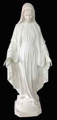 Madonna Della Medaglia Miracolosa Vetroresina Bianca Cm 180