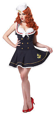 r Girl Nautical Doll Pin Up Girl Navy Blue Dress & Hat (Pin-up Doll Kostüme)