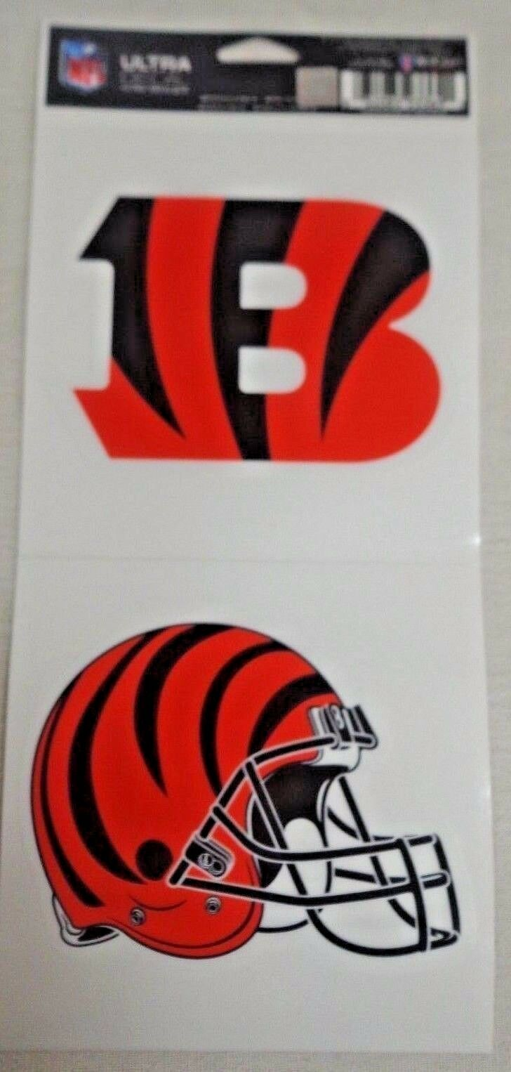 NFL Ultra Decals 2 Pack Set Removable Reusable Sticker Wincraft Cincinnati Bengals