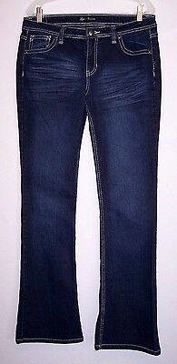 Love Nation Jeans 12 Bootcut Dark Wash Stretch Denim Women's Pants Size 12