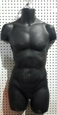 Male Mannequin Formhard Plastic Manikin Display Torso Men T-shirt - Black