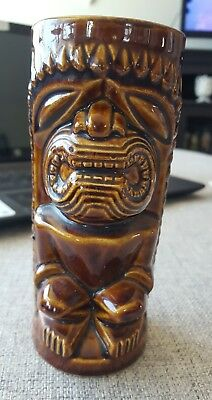 VINTAGE ORCHIDS OF HAWAII R-74 JAPAN TIKI CERAMIC GLASS TUMBLER MUG RETRO DECOR