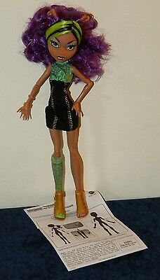 Monster High Clawdeen Wolf Loose in Original Outfit from Werewolf Sister Pack - Wolf From Monster High