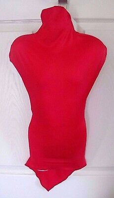 Red Polyester Nylon Stretchable Childrens Child Kids Mannequin Cover