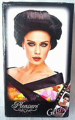 Pleasure Wigs Geisha Hair Black Halloween Cosplay Anime Asian Sexy Women - Geisha Halloween Hair