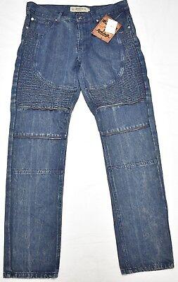 $74 NWT NEW Men Akademiks Jeans Zipper Teeth Ribbed Moto Denim Indigo Urban N754 - Indigo Ribbed Jeans