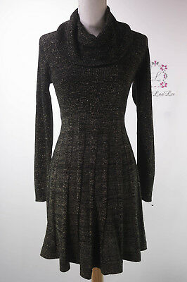 Metallic Cowl Neck (Calvin Klein New Cowl Neck Metallic Sweater Dress CD5WLPU5 Size S M L XL NWT)