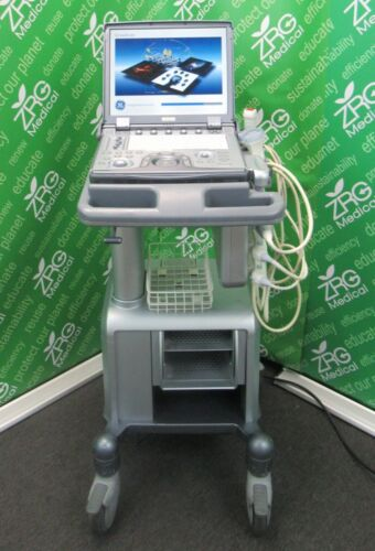 GE Logiq E Portable Ultrasound + 3 Probes (3S-RS, 4C-RS &12L-RS), Cart