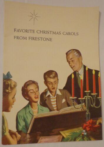 VINTAGE 1959 FAVORITE CHRISTMAS CAROLS BOOKLET PAMPHLET FIRESTONE CUSTOMER GIFT