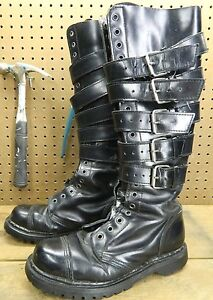 demonia gravel 20 knee high steel toe boots est us 7