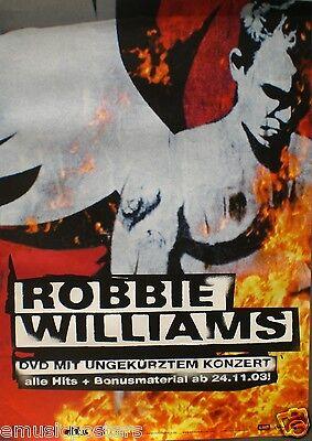 "ROBBIE WILLIAMS ""WHAT WE DID LAST SUMMER"" GERMAN PROMO POSTER W/ DEUTSCH WRITING"