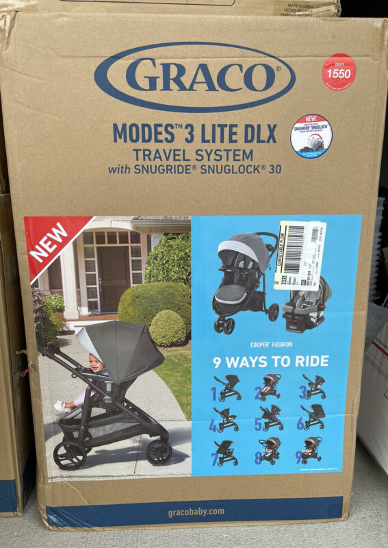 Graco Modes 3 Lite DLX Travel System with Snuglock 30 Cooper Fashion