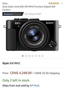 Sony Cyber-shot DSC-RX1RM2 Premium Digital Still Camera