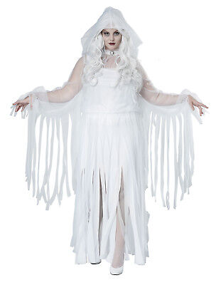 Ghostly Spirit Haunting Adult Plus Size Costume - Plus Size Womens Ghost Costume