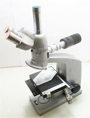 Reichert Microscope Nr. 357 989 With Trinocular Head Six Place Nosepiece