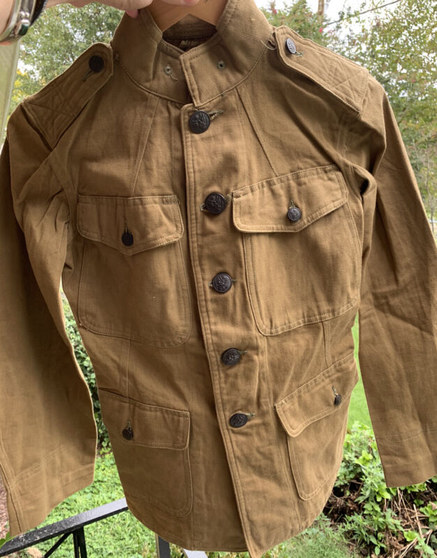 Vintage 20s WWI US ARMY Military Tunic Uniform Khaki Jacket/ Coat. Size 34 Rare